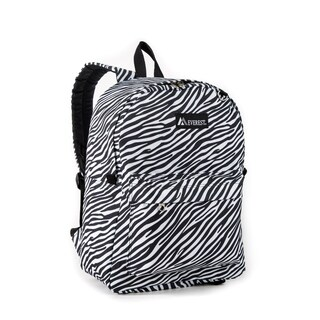 Everest Classic Zebra Black and White 16.5-inch Backpack