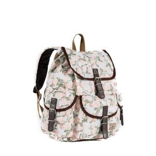 Everest 16-inch Vintage Floral Rucksack Backpack
