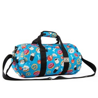 Everest Donuts Pattern 16-inch Round Duffel Bag