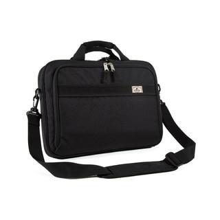 Everest Black 16-inch Slim Briefcase Messenger Bag