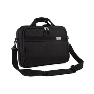 Everest Black 16-inch Slim Briefcase Messenger Bag