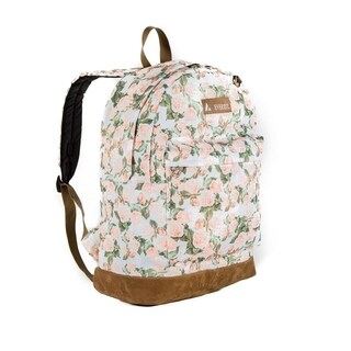Everest Suede 17-inch Vintage Floral Bottom Backpack