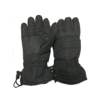 iPM Unisex Black Nylon Battery-heated Outdoor Gloves