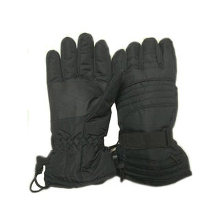 iPM Unisex Black Nylon Battery-heated Outdoor Gloves