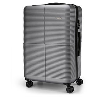 City Traveler Molded Stripes 24-inch Hardside Spinner Upright Suitcase