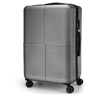 City Traveler Molded Stripes 24-inch Hardside Spinner Upright Suitcase
