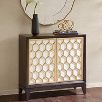 Madison Park Amrita White/ Ebony Accent Cabinet