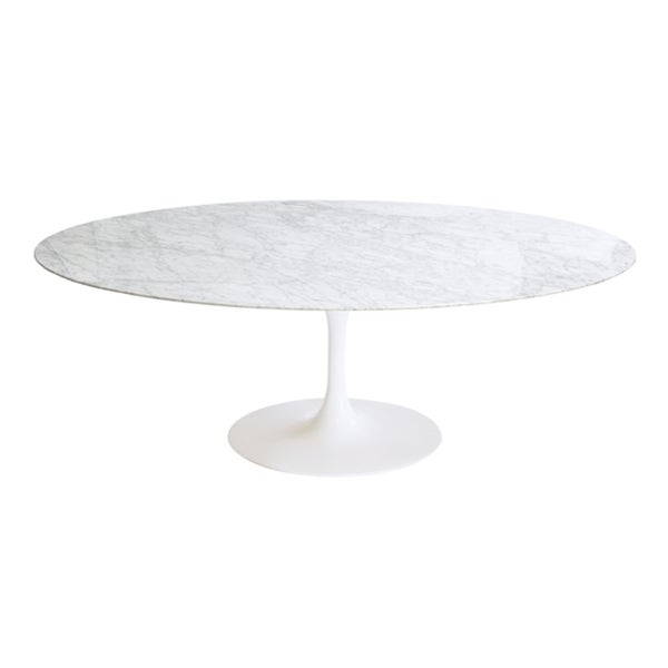 Shop Saarinen Style Tulip Marble Dining Table Free Shipping - 48 tulip table