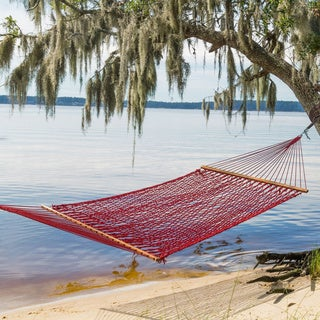 Castaway Red Polyester Rope Hammock