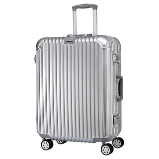 American Traveler 29-inch Molded Vertical Stripes Hardside Spinner Upright Suitcase