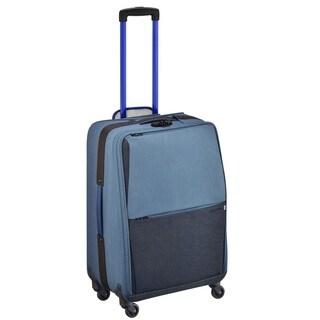 Zero Halliburton New York Greenwich 24-inch Blue Spinner Suitcase