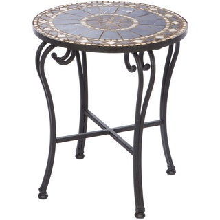 "Galileo 20"" Round Marble Mosaic Side Table"