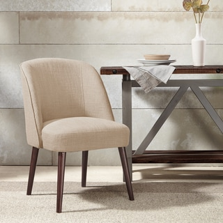 Madison Park Larkin Natural Rounded Back Dining Chair