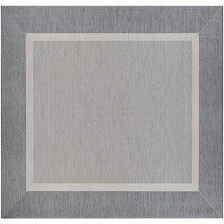 Couristan Recife Stria Texture/Champagne Grey Square Area Rug (8'6 x 8'6)