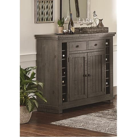 Willow Distressed Grey Wood Server