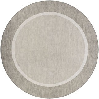 Couristan Recife Stria Brown Round Area Rug (7'6 x 7'6)