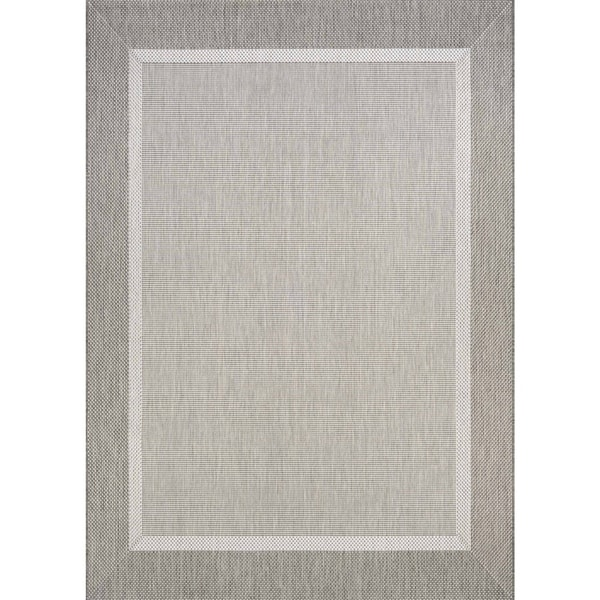Couristan Recife Stria Texture Champagne Taupe Indoor Outdoor Rug 5 X27