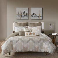 INK+IVY Ayana Spice/ Gold Cotton 3-Piece Comforter Mini Set