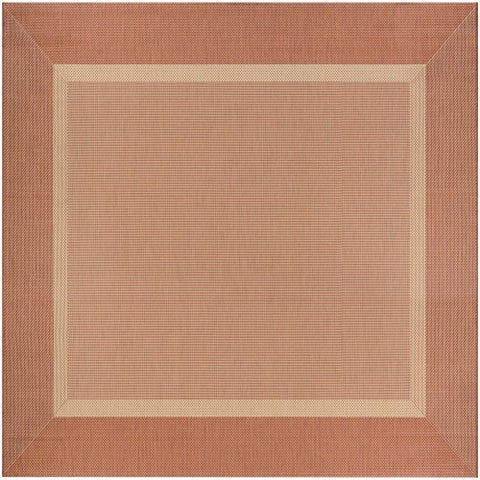 "Couristan Recife Stria Orange Area Rug - 8'6"" x 8'6"""