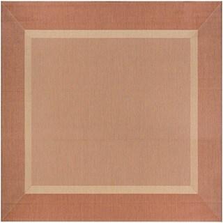 Couristan Recife Stria Textured Natural Terracotta Polypropylene Area Rug (7'6 x 7'6)