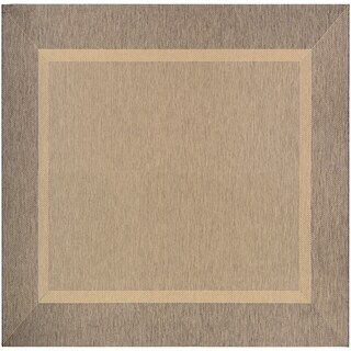 "Couristan Recife Stria Texture/Natural-Coffee Area Rug - 8'6"" x 8'6"""