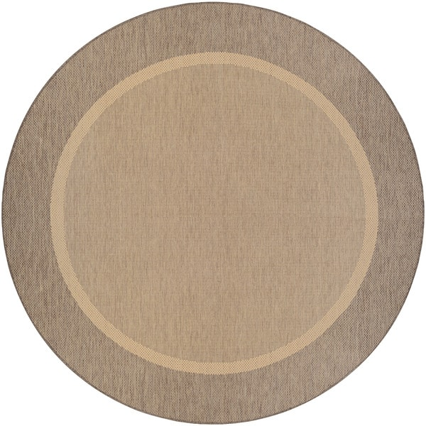 Couristan Recife Stria Texture/Natural Coffee Round Area Rug (8'6 x 8'6)