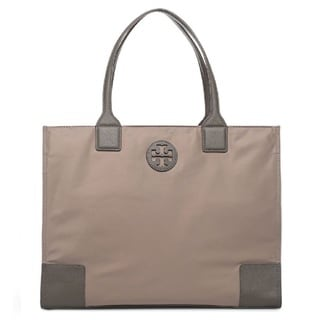 Tory Burch Ella Packable French Grey Nylon Tote