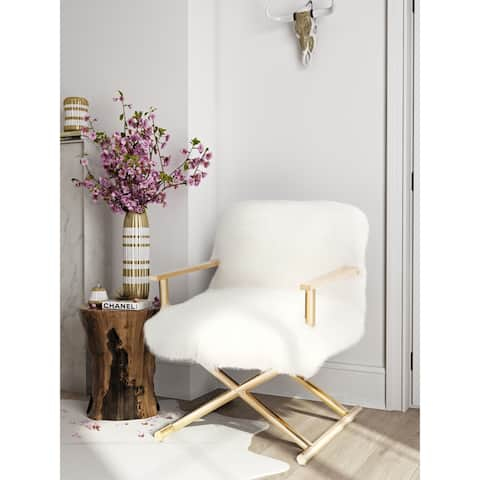 Jodi White Sheepskin Chair