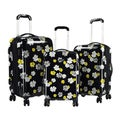 Kensie 3-piece Floral Hardside Expandable Dual Spinner Luggage Set