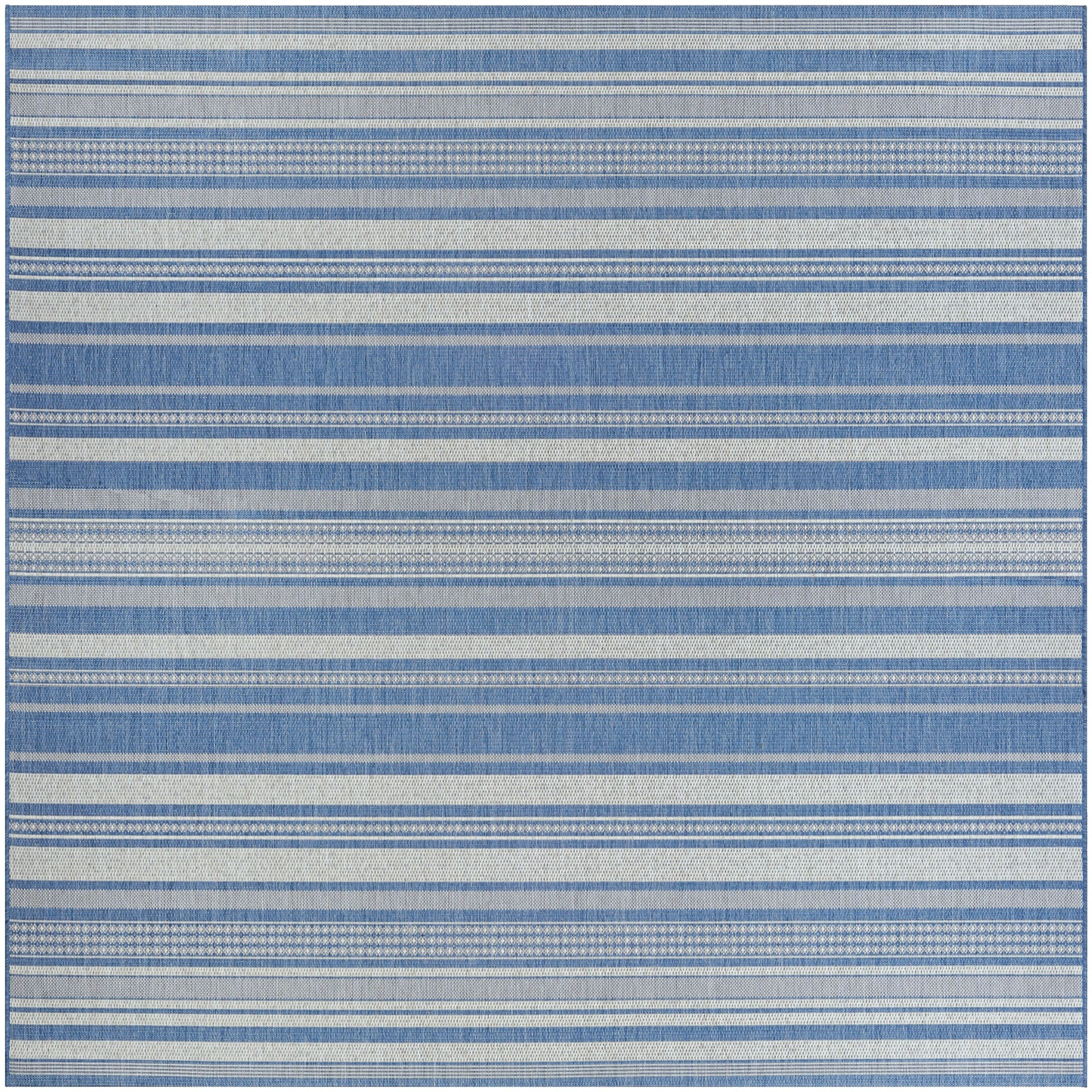 Couristan INC Recife Gazebo Stripe Champagne Blue Indoor/...