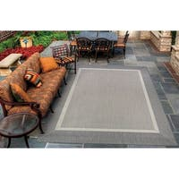 "Pergola Channel Champagne-Grey Indoor/Outdoor Area Rug - 3'9"" x 5'5"""