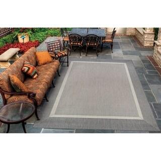 Couristan Recife Stria Texture/Champagne-Grey Indoor/Outdoor Rug - 3'9 x 5'5