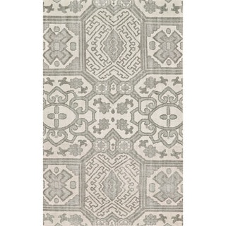 Grand Bazaar Rafa Graphite Hand-knotted Wool Rug (9'6 x 13'6)
