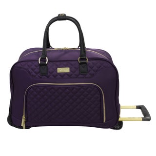 Kensie Fashion 19-inch Rolling Carry-on Duffel Bag (Option: Purple)