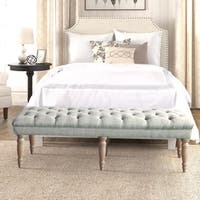 Gracewood Hollow Arkoun Grey Tufted Bench