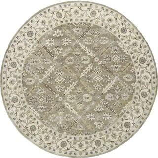 Grand Bazaar Tufted Botticino Sage Wool Round Rug (10' x 10')