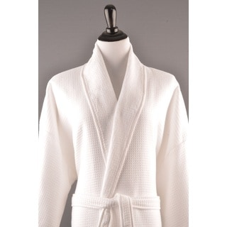 Mens Luxury Waffle Terry Bathrobe, 100% Turkish Cotton