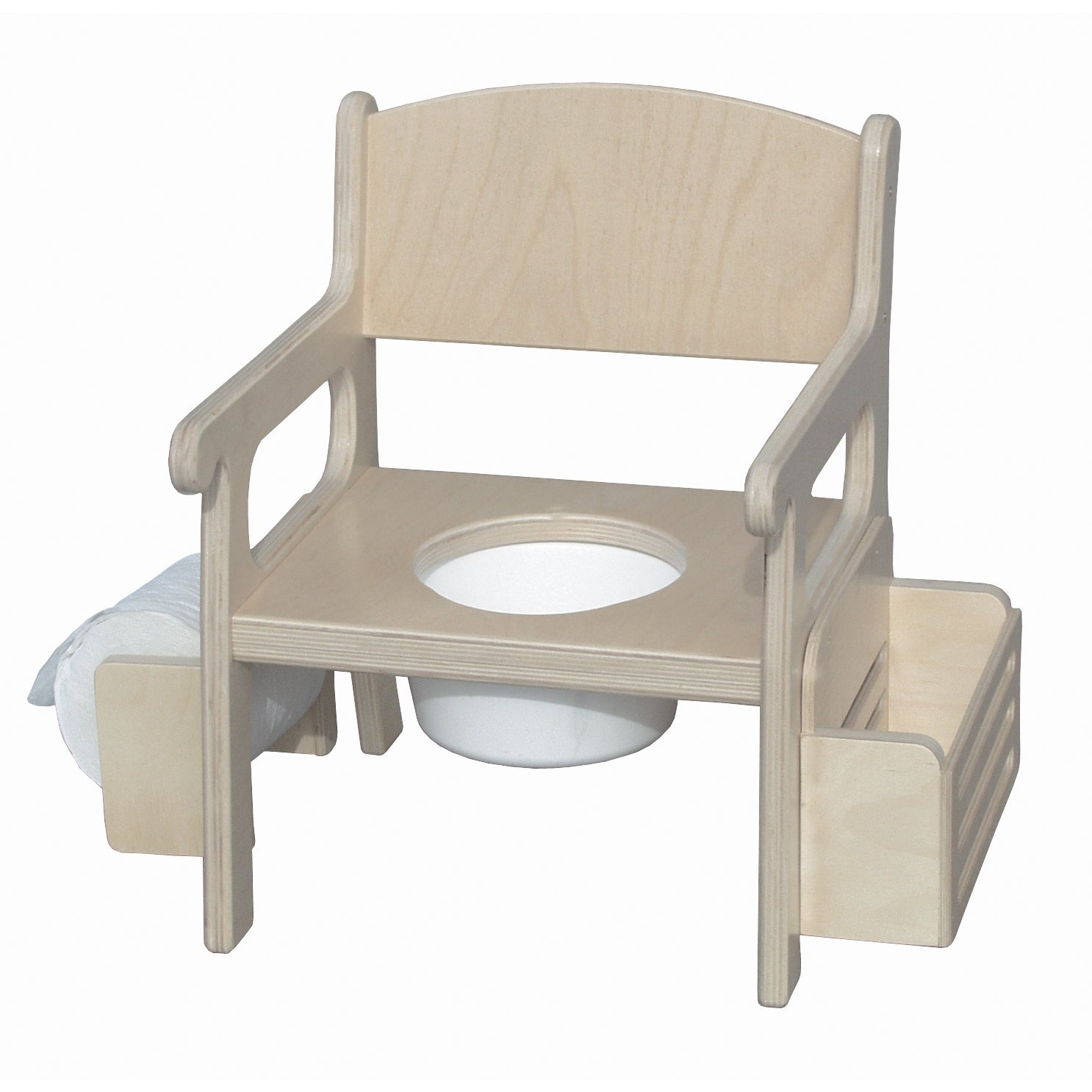 Little Colorado Potty Chair with Accessories (Unfinished), Brown birch