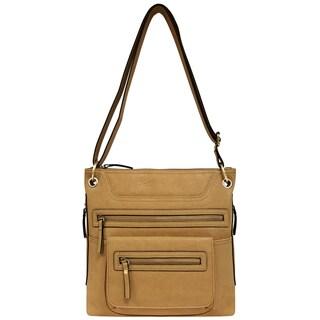 Bueno of California Faux Leather Multi-zip Crossbody Handbag
