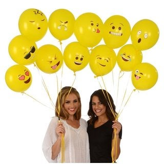 Emoji Universe Series One Latex Emoji Smiley Face Balloons
