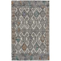 "Grand Bazaar Binada Black/Tangerine Area Rug (9'6"" x 13'6"") - 9'6"" x 13'6"""
