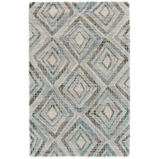Grand Bazaar Blue Tufted Dimat Rug (9' 6 x 13' 6)