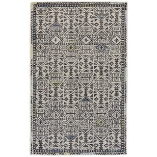 Grand Bazaar Black / Line Tufted Dimat Rug (9' 6 x 13' 6)