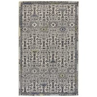 "Grand Bazaar Binada Black / Line Area Rug (9'6"" x 13'6"") - 9'6"" x 13'6"""