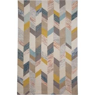 Grand Bazaar Gray/Gold Tufted Dimat Rug (9' 6 x 13' 6)