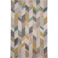 "Grand Bazaar Binada Gray/ Gold Area Rug (9'6"" x 13'6"") - 9'6"" x 13'6"""