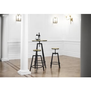 Max Vintage Stackable Adjustable Height Swivel Bar Stools (Set of 2)