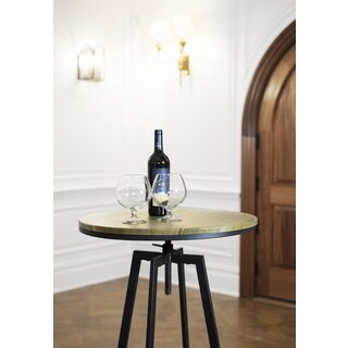 Max Vintage Adjustable Height Swivel Round Bar Table