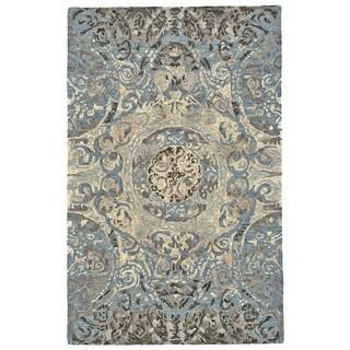 Grand Bazaar Amreli Twilight Viscose and Wool Tufted Rug (9'6 x 13'6)