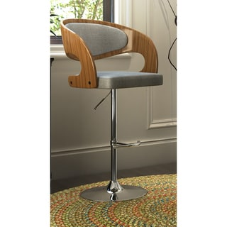 Pino Mid-Century Modern Adjustable Barstool with Swivel